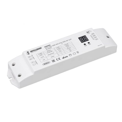 INTELLIGENT ARLIGHT Диммер DALI-202-50W-MIX-DT8-1050-NF-SUF (230V, 1000mА) (IARL, Пластик)