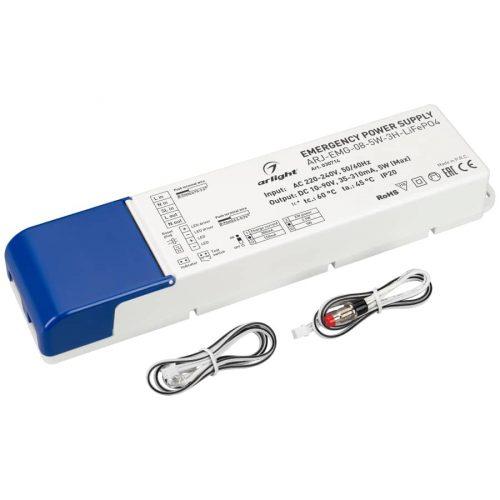 Блок аварийного питания ARJ-EMG-08-5W-3H-LiFePO4 (ARL, IP20 Пластик, 3 года)