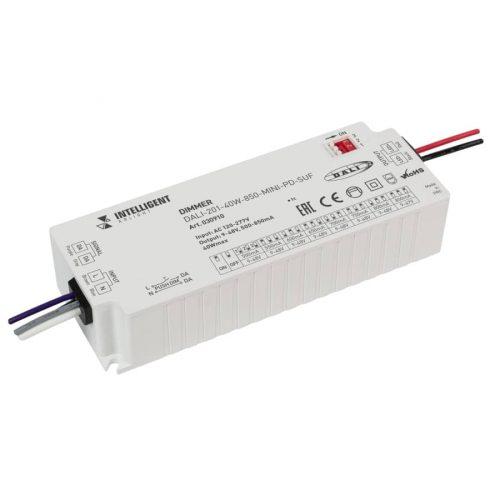 INTELLIGENT ARLIGHT Диммер DALI-201-40W-850-MINI-PD-SUF (230V, 500-850mА) (IARL, IP20 Пластик, 5 лет)