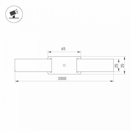 Основание для светильника ALT-BELT-1-2000 (BK) (ARL, Металл)