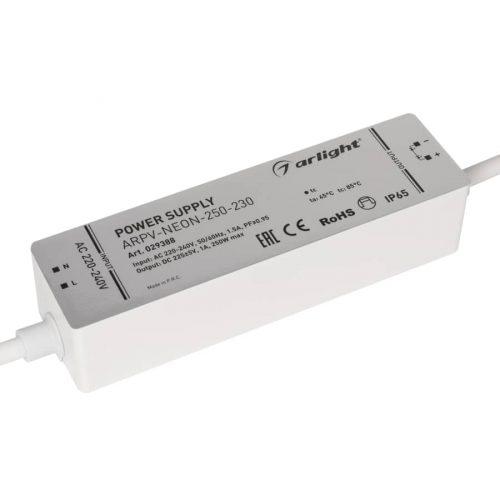 Блок питания ARPV-NEON-250-230 (230V, 1A, 250W) (ARL, Закрытый)
