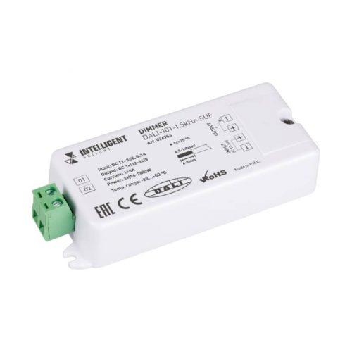 INTELLIGENT ARLIGHT Диммер DALI-101-1.5kHz-SUF (12-36V, 1х8А) (IARL, IP20 Пластик, 3 года)